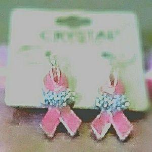 Breast Cancer Crystal' Earrings